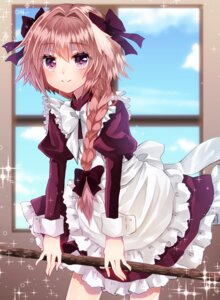 Rating: Safe Score: 16 Tags: astolfo_(fate) crossdress fate/apocrypha fate/stay_night katou_kuroko maid trap User: Mr_GT