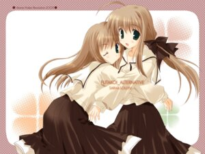 Rating: Safe Score: 16 Tags: futakoi ikegami_akane shirogane_sara shirogane_souju wallpaper User: waha