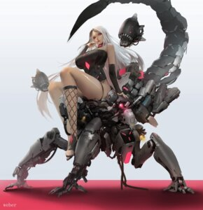 Rating: Questionable Score: 7 Tags: fishnets leotard mecha no_bra weber User: BattlequeenYume