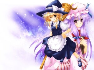Rating: Safe Score: 6 Tags: aoi_hiro dress kirisame_marisa patchouli_knowledge touhou wallpaper witch User: konstargirl