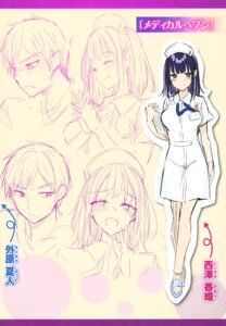 Rating: Safe Score: 11 Tags: character_design expression kakao nurse sketch User: zyll