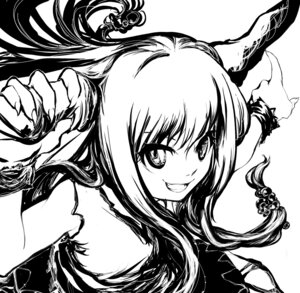Rating: Safe Score: 5 Tags: ibuki_suika monochrome shiro touhou User: konstargirl