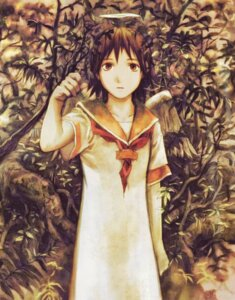 Rating: Safe Score: 5 Tags: abe_yoshitoshi haibane_renmei rakka sepia wings User: Davison