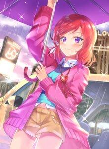 Rating: Safe Score: 24 Tags: love_live! nishikino_maki shaka_(staito0515) sweater umbrella User: Mr_GT