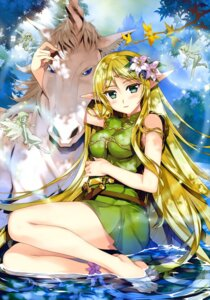 Rating: Safe Score: 59 Tags: deedlit dress elf fairy fujima_takuya pointy_ears record_of_lodoss_war wet wings User: drop