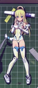 Rating: Questionable Score: 34 Tags: bodysuit busou_shinki card fixme overfiltered scanning_artifacts shimada_humikane thighhighs User: fireattack