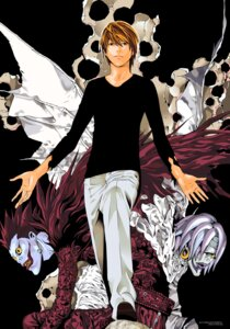 Rating: Safe Score: 11 Tags: death_note obata_takeshi rem ryuk signed vector_trace yagami_light User: Radioactive