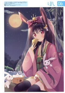 Rating: Safe Score: 61 Tags: animal_ears bunny_ears hoshi japanese_clothes thighhighs User: Twinsenzw
