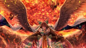 Rating: Safe Score: 27 Tags: armor dress reiuji_utsuho sword touhou wings xuanlin_jingshuang User: Mr_GT