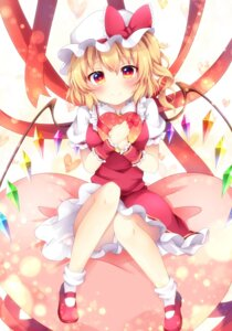 Rating: Safe Score: 35 Tags: dress flandre_scarlet miy@ pantsu touhou valentine wings User: RyuZU