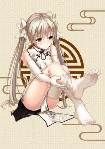 Rating: Safe Score: 37 Tags: chinadress feet kasugano_sora pantsu string_panties thighhighs yiduan_zhu yosuga_no_sora User: BD_Love