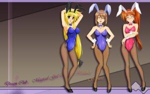 Rating: Safe Score: 22 Tags: animal_ears bunny_ears bunny_girl fate_testarossa mahou_shoujo_lyrical_nanoha mahou_shoujo_lyrical_nanoha_strikers pantyhose tagme takamachi_nanoha wallpaper yagami_hayate User: abdd