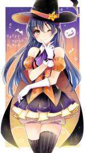 Rating: Safe Score: 38 Tags: akit_(15jamjam) dress halloween love_live! sonoda_umi thighhighs witch User: KazukiNanako