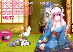 Rating: Questionable Score: 28 Tags: cleavage headphones kimono neko sonico super_sonico tamura_masafumi User: drop