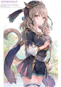 Rating: Safe Score: 64 Tags: animal_ears final_fantasy final_fantasy_xiv miqo'te momoko_(momopoco) sashimi_necoya tail thighhighs User: kiyoe