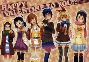 Rating: Safe Score: 5 Tags: komi_naoshi nisekoi scanning_artifacts thighhighs valentine User: vkun