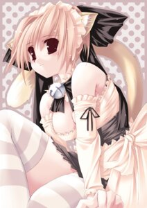 Rating: Questionable Score: 12 Tags: animal_ears cleavage g.t.f jian nekomimi thighhighs User: fireattack