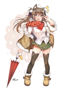 Rating: Safe Score: 32 Tags: animal_ears duji_amo thighhighs umbrella User: Mr_GT