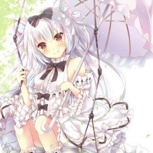 Rating: Questionable Score: 9 Tags: animal_ears azur_lane dress maya_(tirolpop) skirt_lift umbrella yukikaze_(azur_lane) User: sym455