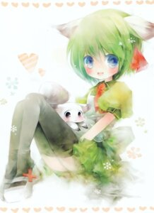 Rating: Safe Score: 8 Tags: animal_ears greenwood midori nekomimi shimeko thighhighs User: midzki