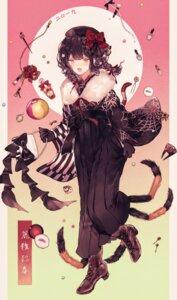 Rating: Safe Score: 15 Tags: heels japanese_clothes monster_girl y_o_u_k_a User: Dreista