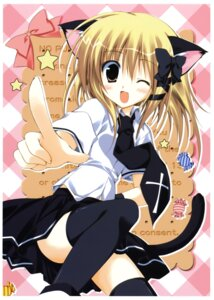 Rating: Safe Score: 33 Tags: animal_ears korie_riko nekomimi seifuku tail thighhighs User: Radioactive