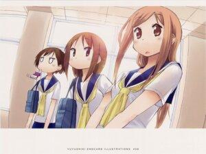 Rating: Safe Score: 14 Tags: aikawa_chiho duplicate endcard hasegawa_fumi kakifly okano_kei seifuku yuyushiki User: Radioactive