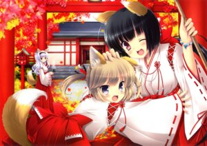 Rating: Safe Score: 33 Tags: animal_ears ikegami_akane kitsune miko tail User: WtfCakes