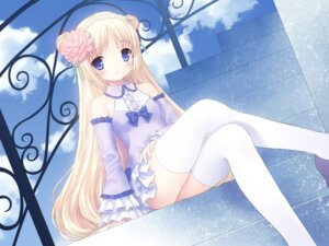 Rating: Safe Score: 63 Tags: chitosezaka_suzu dress thighhighs wallpaper User: fireattack
