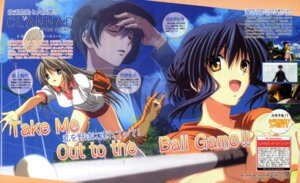 Rating: Safe Score: 8 Tags: baseball clannad clannad_after_story gym_uniform ikeda_kazumi sagara_misae sakagami_tomoyo User: sdlin2006