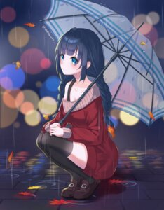 Rating: Safe Score: 32 Tags: sarablanche sweater thighhighs umbrella User: Mr_GT