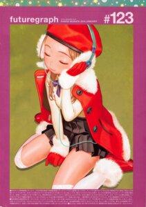 Rating: Safe Score: 4 Tags: christmas headphones range_murata sweater thighhighs User: 8mine8