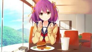 Rating: Safe Score: 43 Tags: akabeisoft3 game_cg higuchi_isami seifuku sorairo_innocent sweater tsubaki_ami User: mattiasc02