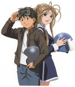Rating: Safe Score: 7 Tags: ah_my_goddess belldandy morisato_keiichi screening User: minakomel