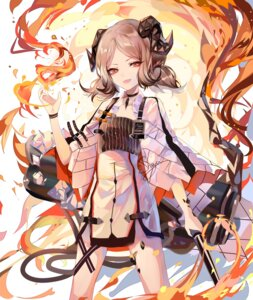 Rating: Questionable Score: 1 Tags: arknights dress horns ifrit_(arknights) sheya tail weapon User: Dreista