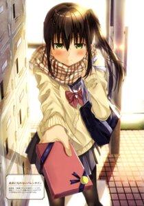 Rating: Safe Score: 43 Tags: kukiha pantyhose seifuku sweater valentine User: drop