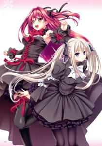 Rating: Safe Score: 39 Tags: cleavage corticarte_reichstein dress gothic_lolita kannatsuki_noboru lolita_fashion sousouki_reginald thighhighs veronica_twanbach User: Radioactive