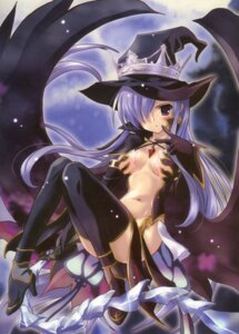 Rating: Questionable Score: 48 Tags: cleavage fatima komatsu_e-ji luminous_arc luminous_arc_2 no_bra thighhighs weapon witch User: Radioactive