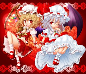 Rating: Safe Score: 10 Tags: chibi flandre_scarlet remilia_scarlet sumisu_(mondo) touhou wings User: Silvance