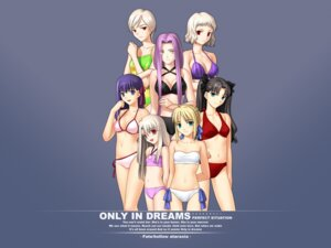 Rating: Safe Score: 32 Tags: fate/stay_night illyasviel_von_einzbern leysritt matou_sakura rider saber sella swimsuits takeuchi_takashi toosaka_rin type-moon wallpaper User: boon