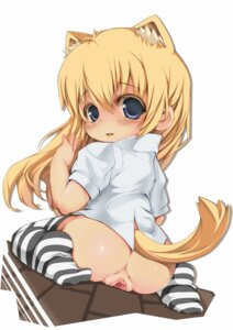 Rating: Explicit Score: 57 Tags: animal_ears fushuu loli nopan pussy tail thighhighs uncensored User: inumimi.7