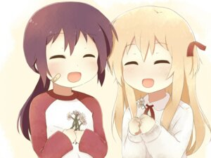 Rating: Safe Score: 15 Tags: funami_yui kinehansuke toshinou_kyouko yuru_yuri User: ddns001