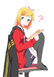 Rating: Safe Score: 10 Tags: kagamine_rin sakuranchu thighhighs vocaloid User: Radioactive