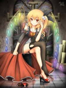 Rating: Safe Score: 49 Tags: flandre_scarlet hira_(zlpabrams) thighhighs touhou User: KerrigN