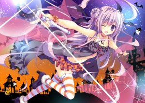 Rating: Safe Score: 89 Tags: cleavage halloween heels nanaroba_hana thighhighs User: blooregardo