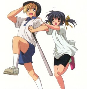 Rating: Safe Score: 10 Tags: baseball clannad screening sunohara_mei sunohara_youhei User: kyoushiro