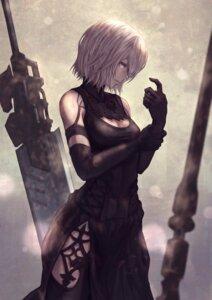 Rating: Safe Score: 27 Tags: cleavage dress nier_automata sword thighhighs yasu_(segawahiroyasu) yorha_type_a_no._2 User: Mr_GT