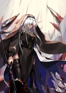 Rating: Safe Score: 21 Tags: arknights blood garter nun nys specter_(arknights) thighhighs torn_clothes weapon User: Dreista