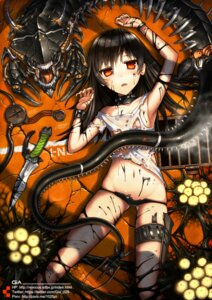 Rating: Questionable Score: 44 Tags: gia loli monster pantsu torn_clothes weapon User: Radioactive
