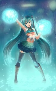 Rating: Safe Score: 53 Tags: cheerleader hatsune_miku lasterk underboob vocaloid User: jjkbrain